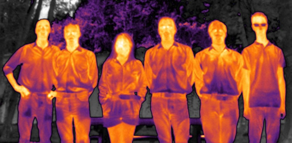IR shot of our unique team with FLIR Boson