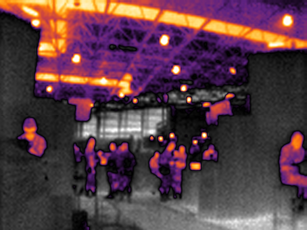 security applications with thermal infrared vision systems