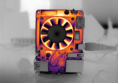 thermal infrared vision applications : thermography - fan temperature analysis