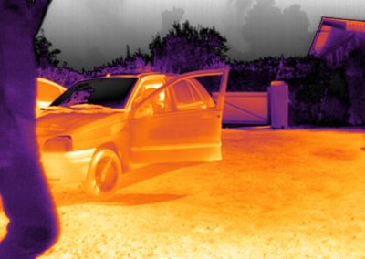 thermal infrared vision applications : thermography - outdoor snapshot